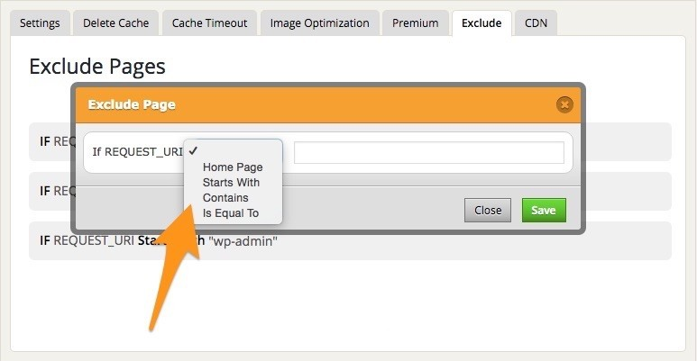 Exclude Page Lightbox