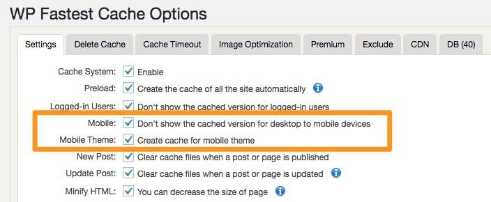 Mobile Cache | Wp Fastest Cache